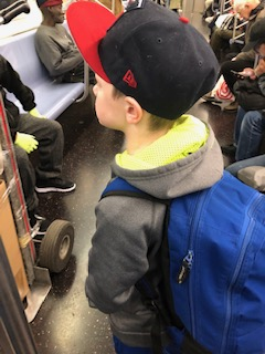 F train to the Lego store